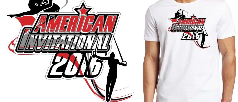 2016 American Invitational logo design for gymnastics