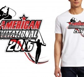 2016 American Invitational logo design for gymnastics