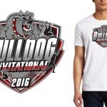 2016 Bulldog Invitational track and field vector logo event