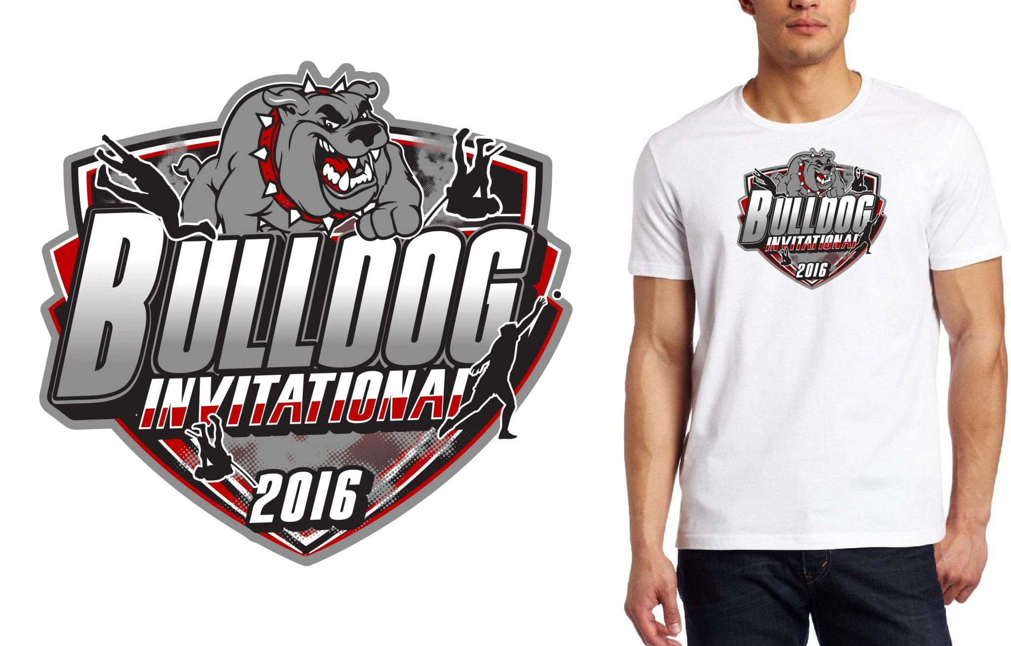 2016 Bulldog Invitational track and field vector logo event