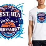 2016 Best Buy National Tournament, vector artwork, logo for tshirt, basketball logo design by UrArtStudio.com