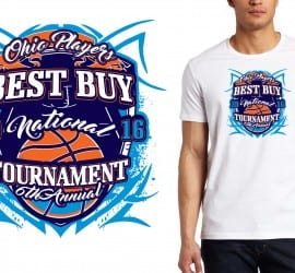 2016 Best Buy National Tournament, vector artwork, logo for tshirt, basketball logo design by UrArtStudio.com