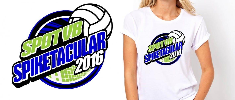 Graphic logo design by UrArtStudio April 30 2016 Spot VB Spiketacular volleyball