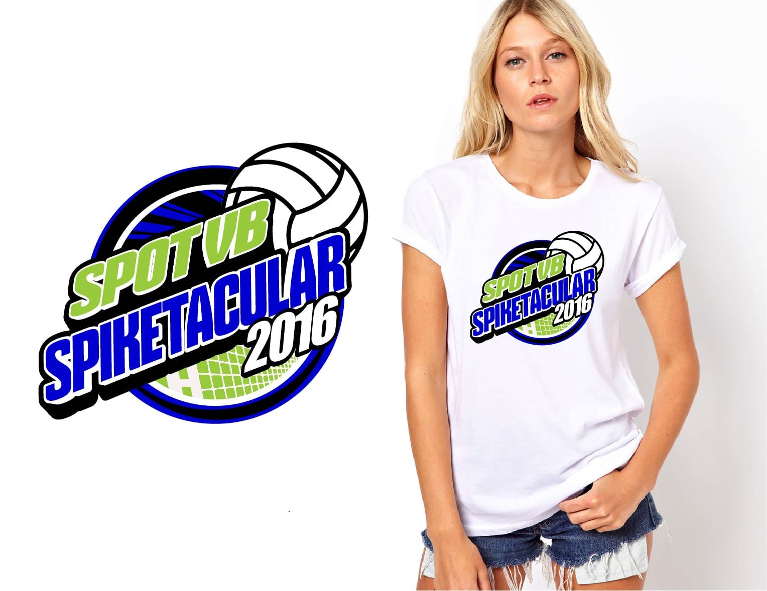 Graphic logo design by UrArtStudio April 30 2016 Spot VB Spiketacular volleyball