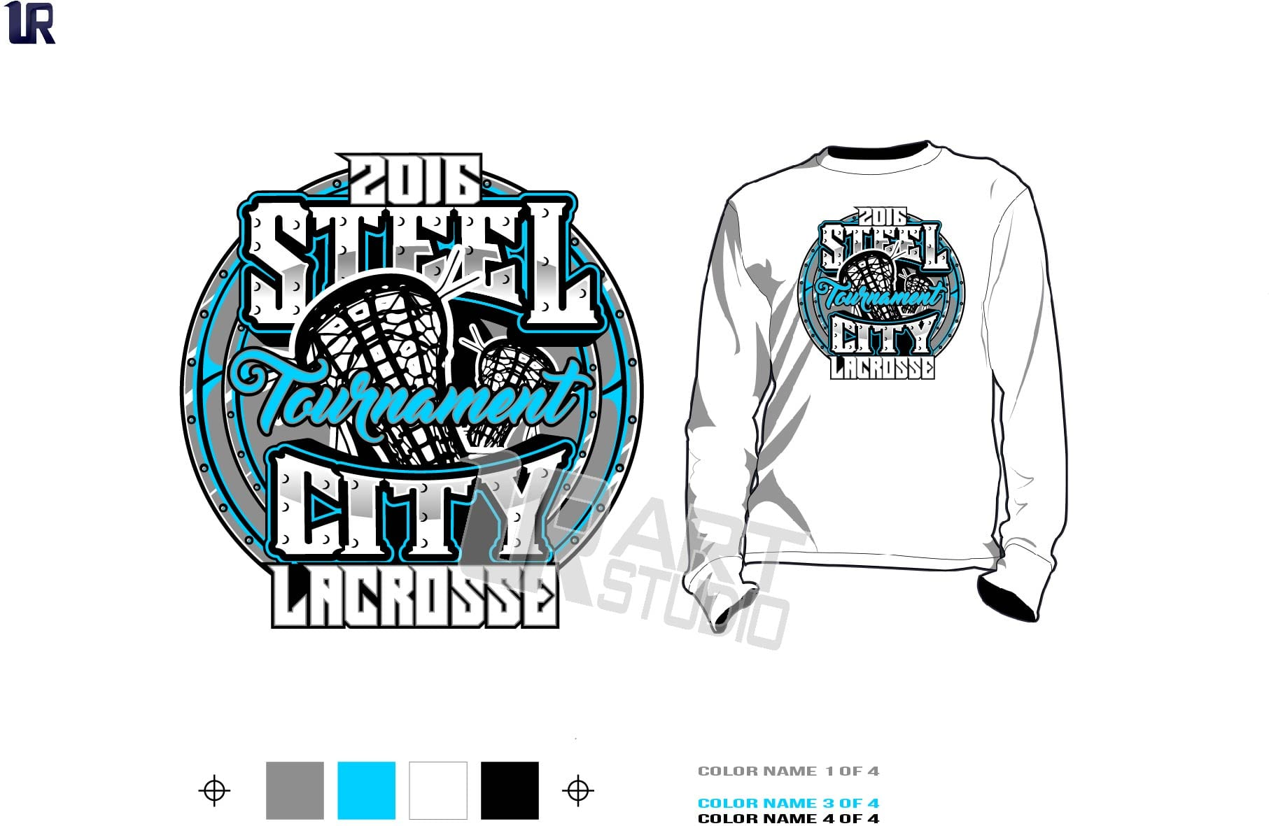 Download Lacrosse Tshirt Vector Design Layered Four Spot Colors Color Separated By UrArtStudio