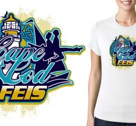 UrArtStudio vector logo design for Tshirt May 7 8 2016 Cape Cod Feis Event