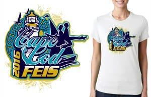 UrArtStudio vector logo design for Tshirt May 7 8 2016 Cape Cod Feis Event