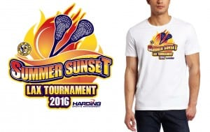 Cool vector logo design for  July 23  2016 Summer Sunset Lax Tournament Chuck Greenspan lacrosse event