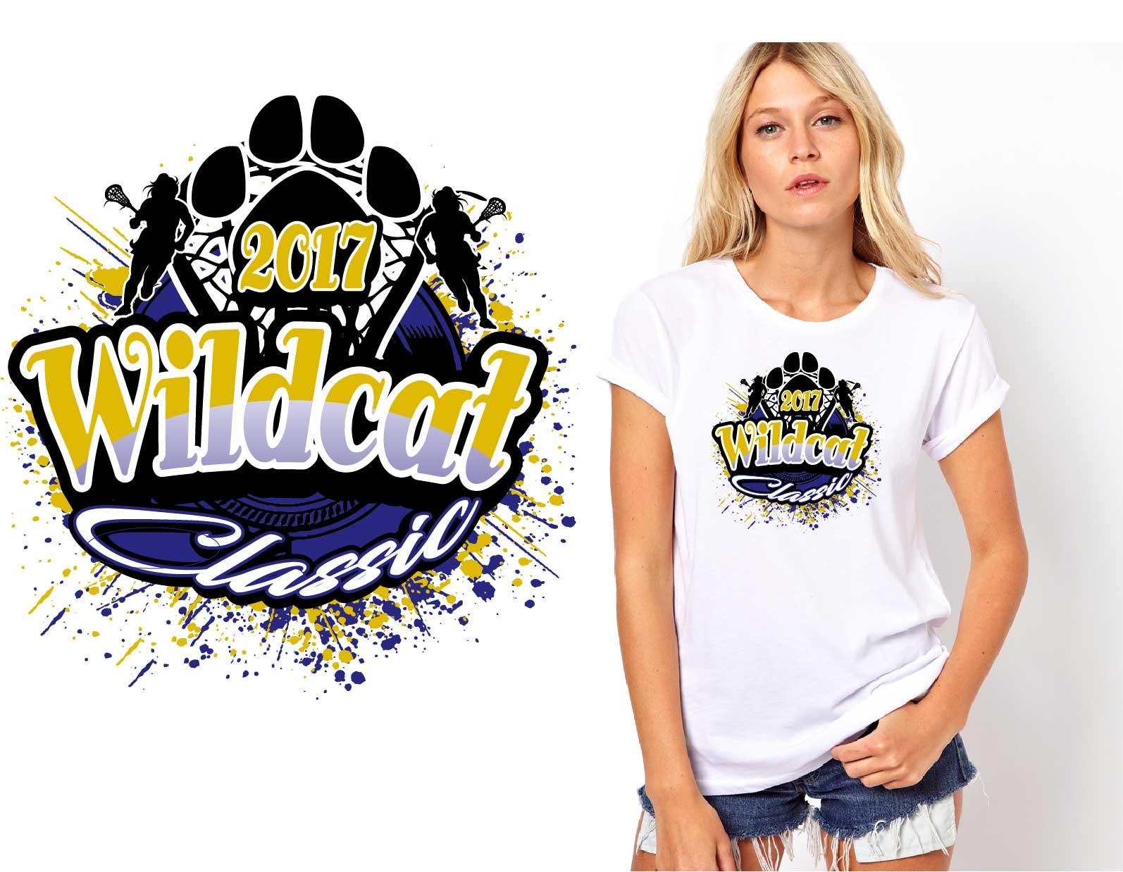 Tshirt vector logo design for 5.13.17 Wildcat Classic .lacrosse