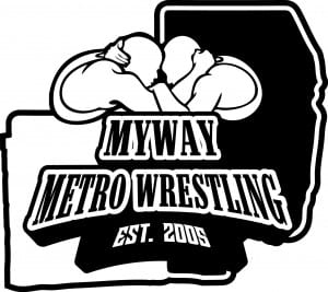 CUSTOM VECTOR LOGO DESIGN FOR MYWAY METRO WRESTLING BY URARTSTUDIO.COM