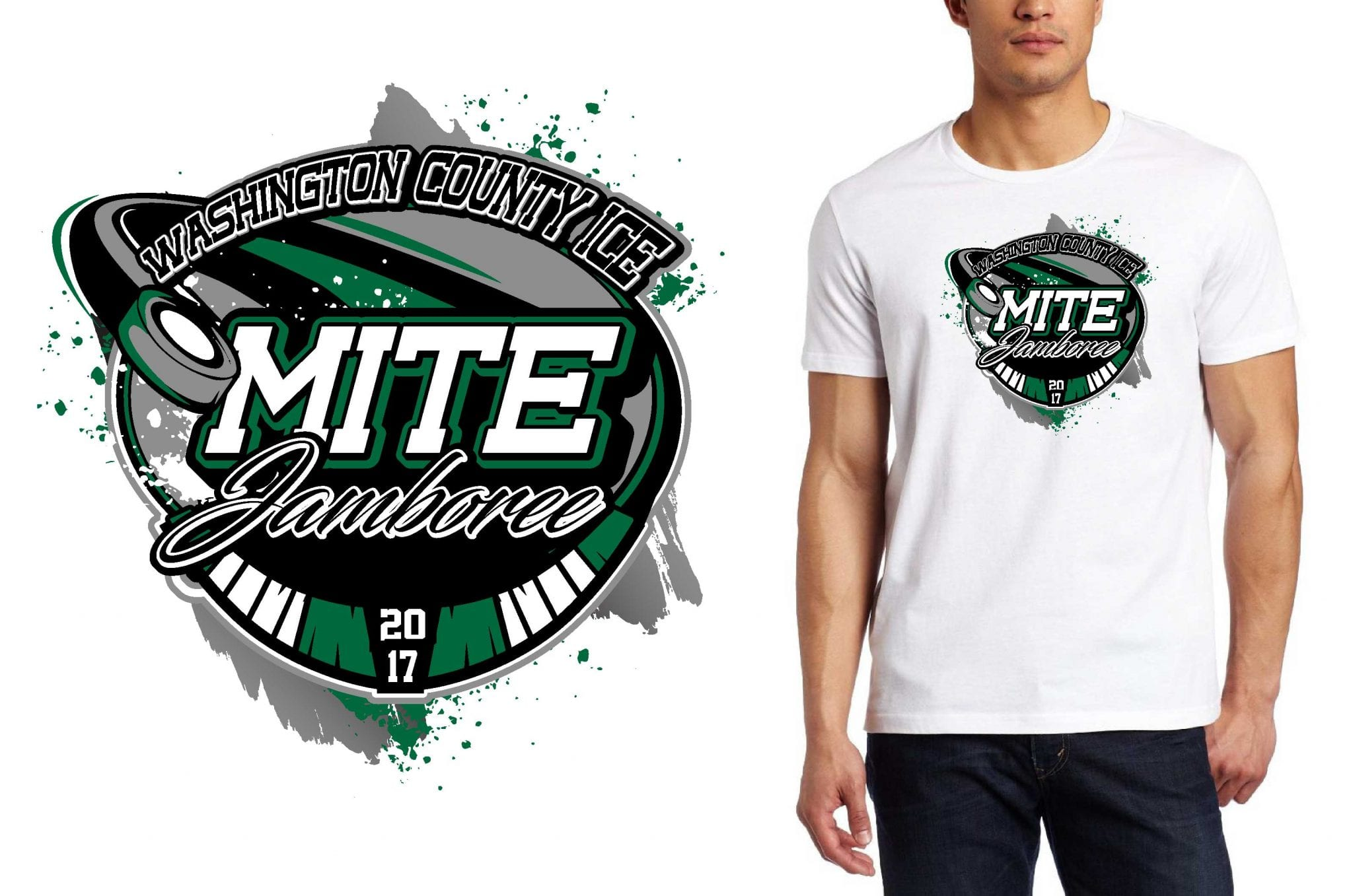 VECTOR LOGO DESIGN FOR 1.28-29.WASHINGTON COUNTY ICE MITE JAMBOREE.eric. hockey-event