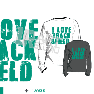 I LOVE TRACK AND FIELD JADE TSHIRT LOGO PRINT READY ONE COLOR