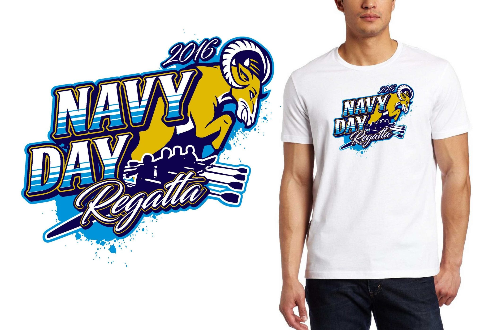 PRINT 10 19 16 Navy Day Regatta VECTOR LOGO TSHIRT DESIGN FOR regatta