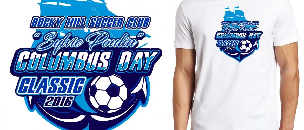 PRINT VECTOR LOGO DESIGN FOR 2016 14th Annual Rocky Hill Columbus Day Classic Tournament SOCCER EVENT