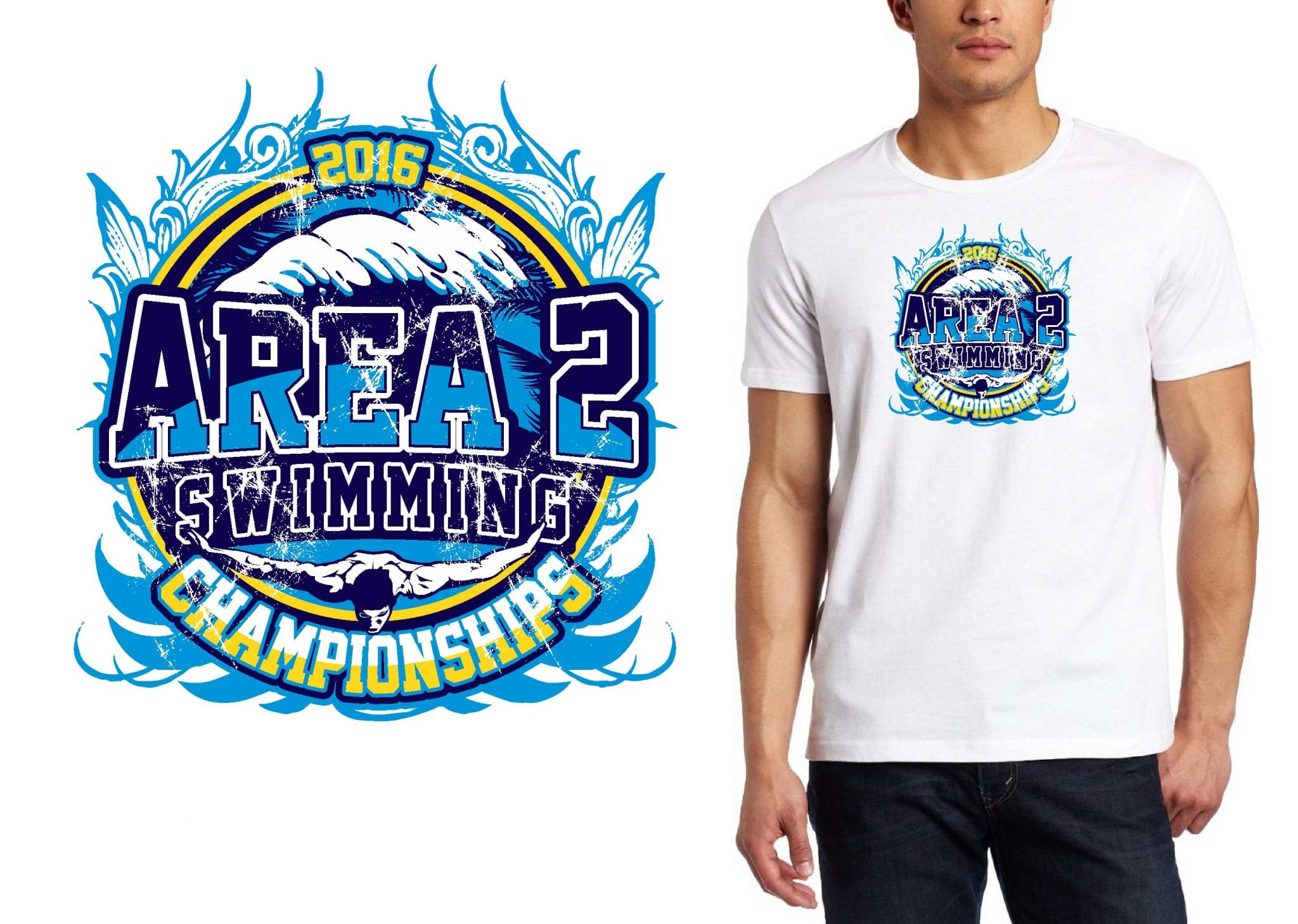 VECTOR LOGO DESIGN FOR PRINT July 30 31 2016 Area 2 Swimming Championships Salesforce Enterprise Edition swimming event