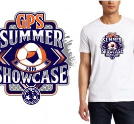 PRINT 7 16 16 GPS Summer Showcase Salesforce Enterprise Edition VECTOR TSHIRT LOGO DESIGN FOR soccer EVENT
