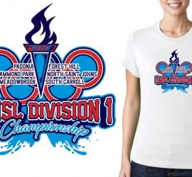 PRINT VECTOR DESIGN FOR 7 30 16 CMSL Division 1 Championship SWIMMING EVENT