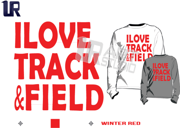TSHIRT LOGO PRINT READY ONE COLOR I LOVE TRACK AND FIELD 3