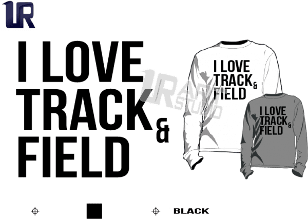TSHIRT LOGO PRINT READY ONE COLOR I LOVE TRACK AND FIELD