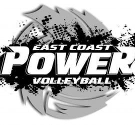 VECTOR DESIGN FOR EAST COAST POWER VOLLEYBALL