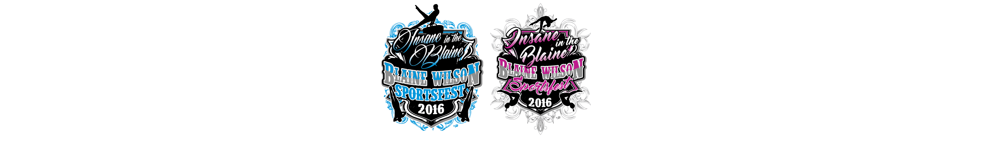 VECTOR LOGO DESIGN FOR PRINT BLAIN WILLSON FEMALE AND MALE GYMNASTICS EVENT