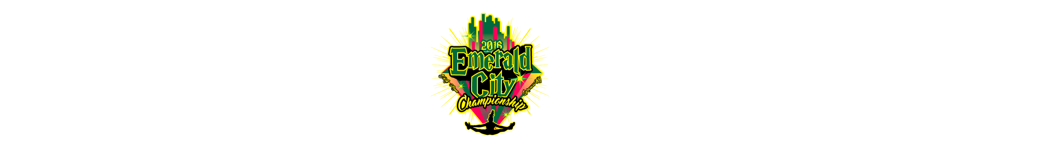 VECTOR LOGO DESIGN FOR PRINT EMERALD CITY CHAMPIONSHIP CHEER AND DANCE EVENT