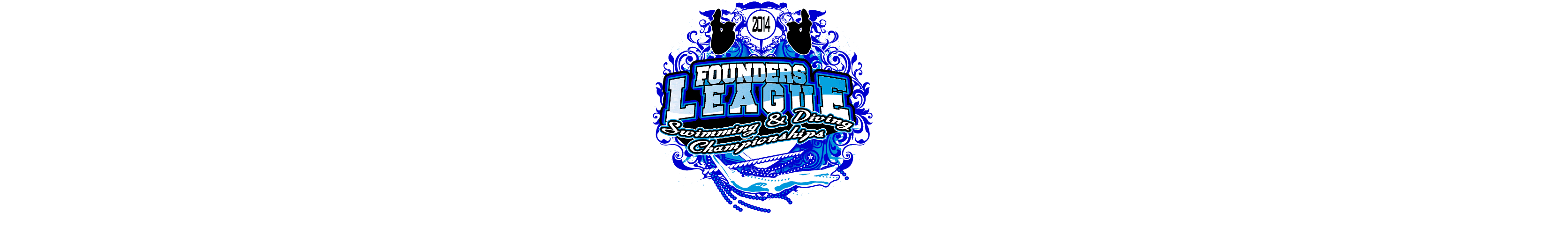 VECTOR LOGO DESIGN FOR PRINT FOUNDERS LEAGUE DIVING CHAMPIONSHIPS EVENT