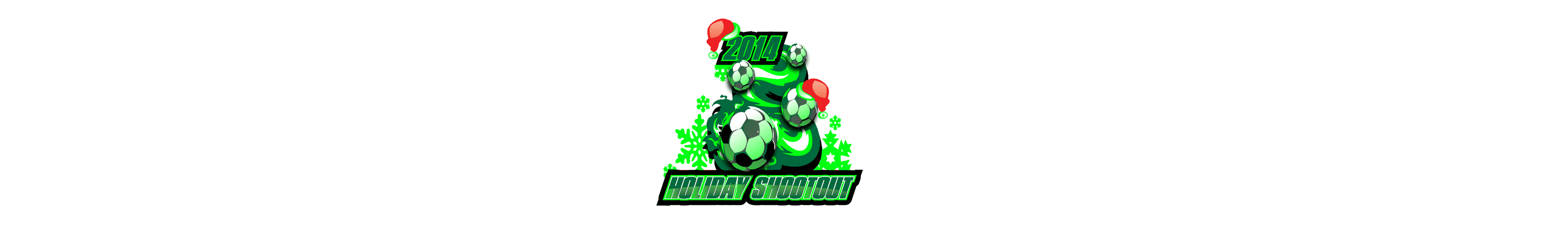 VECTOR LOGO DESIGN FOR PRINT HOLIDAY SHOOTOUT SOCCER EVENT