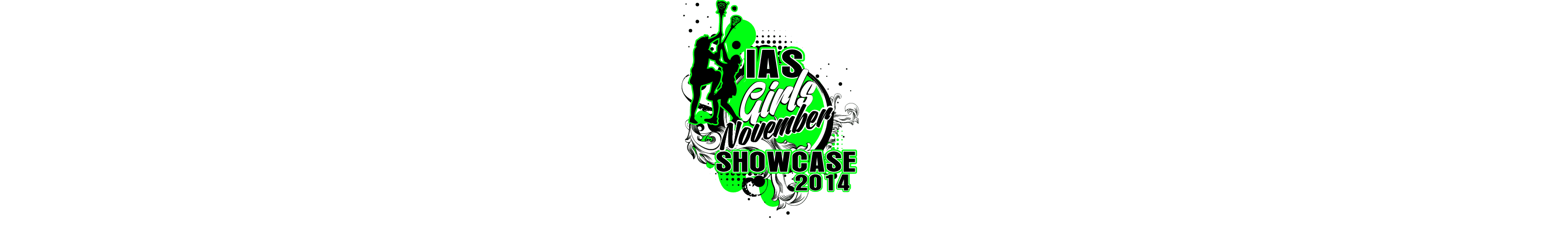 VECTOR LOGO DESIGN FOR PRINT IAS GIRLS SHOWCASE LACROSSE EVENT