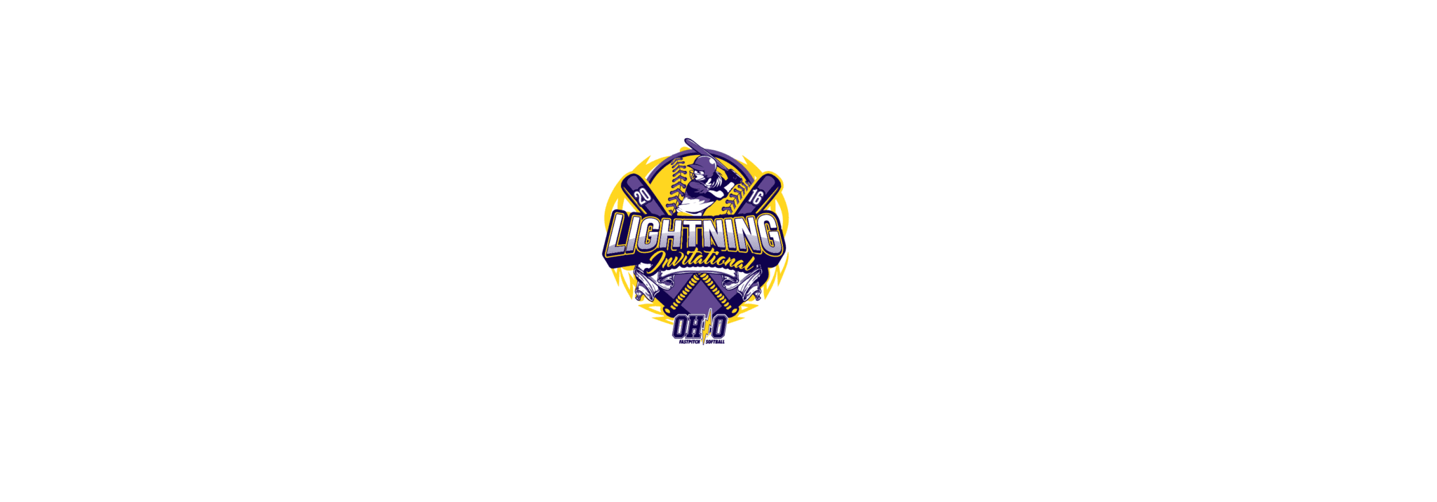 VECTOR LOGO DESIGN FOR PRINT LIGHTNING INVITATIONAL SOFTBALL EVENT