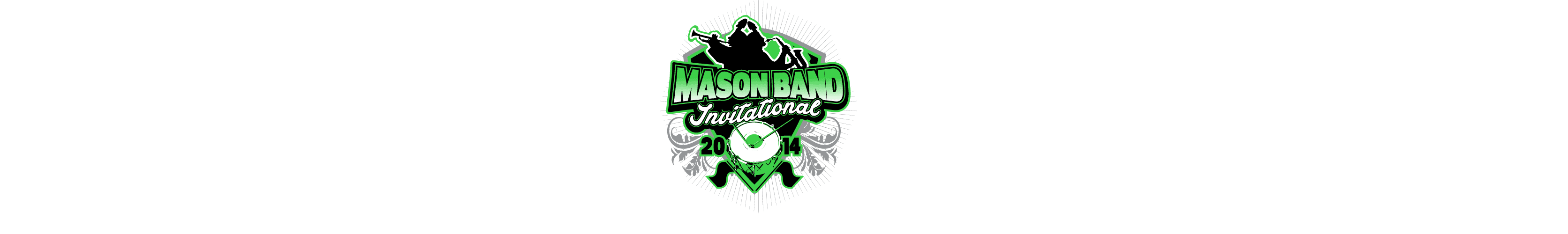 VECTOR LOGO DESIGN FOR PRINT MASON BAND AND COLOR GUARD INVITATIONAL EVENT