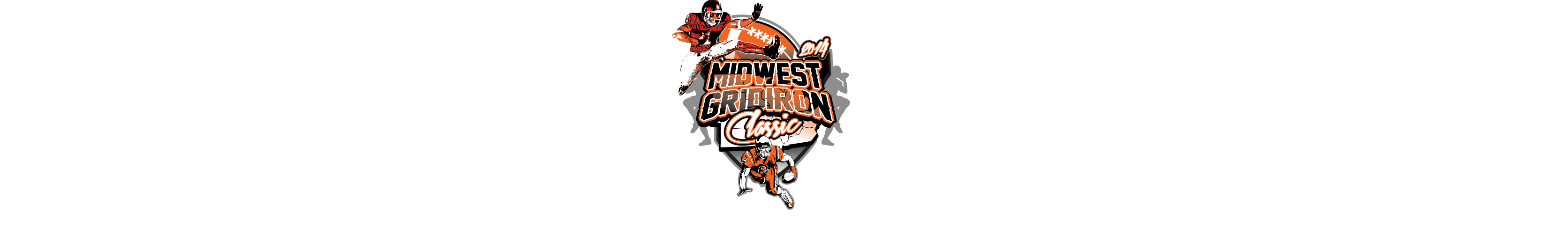 VECTOR LOGO DESIGN FOR PRINT MIDWEST GRIDIRON CLASSIC FOOTBALL EVENT