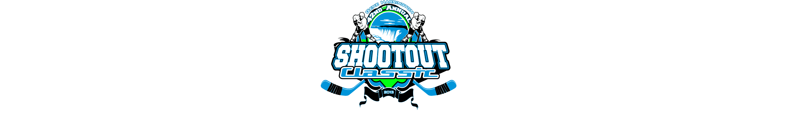 VECTOR LOGO DESIGN FOR PRINT SHOOTOUT CLASSIC HOCKEY EVENT