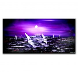 PAINTING - SEASCAPE - SAIL BOATS - NIGHT SKY - OCEAN - WAVES - PAINTING TECHNIQUES BY DRANITSIN