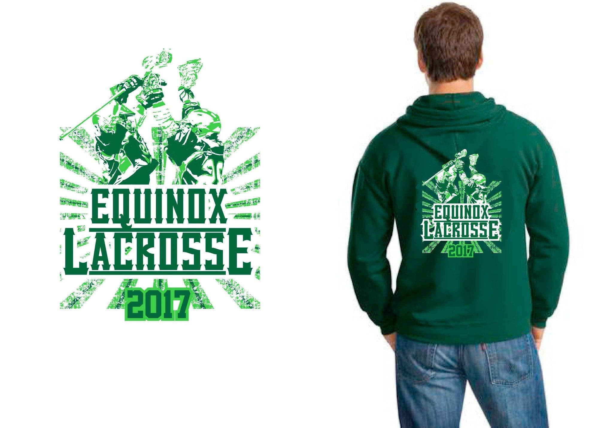2017 Equinox Lacrosse vector logo design for t-shirt UrArtStudio