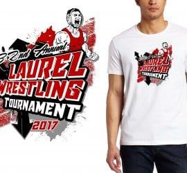2017 31st Annual Laurel Wrestling Tournament vector logo design for t-shirt UrArtStudio