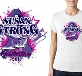 2017 Susan Strong Invitational vector logo design for gymnastics t-shirt UrArtStudio