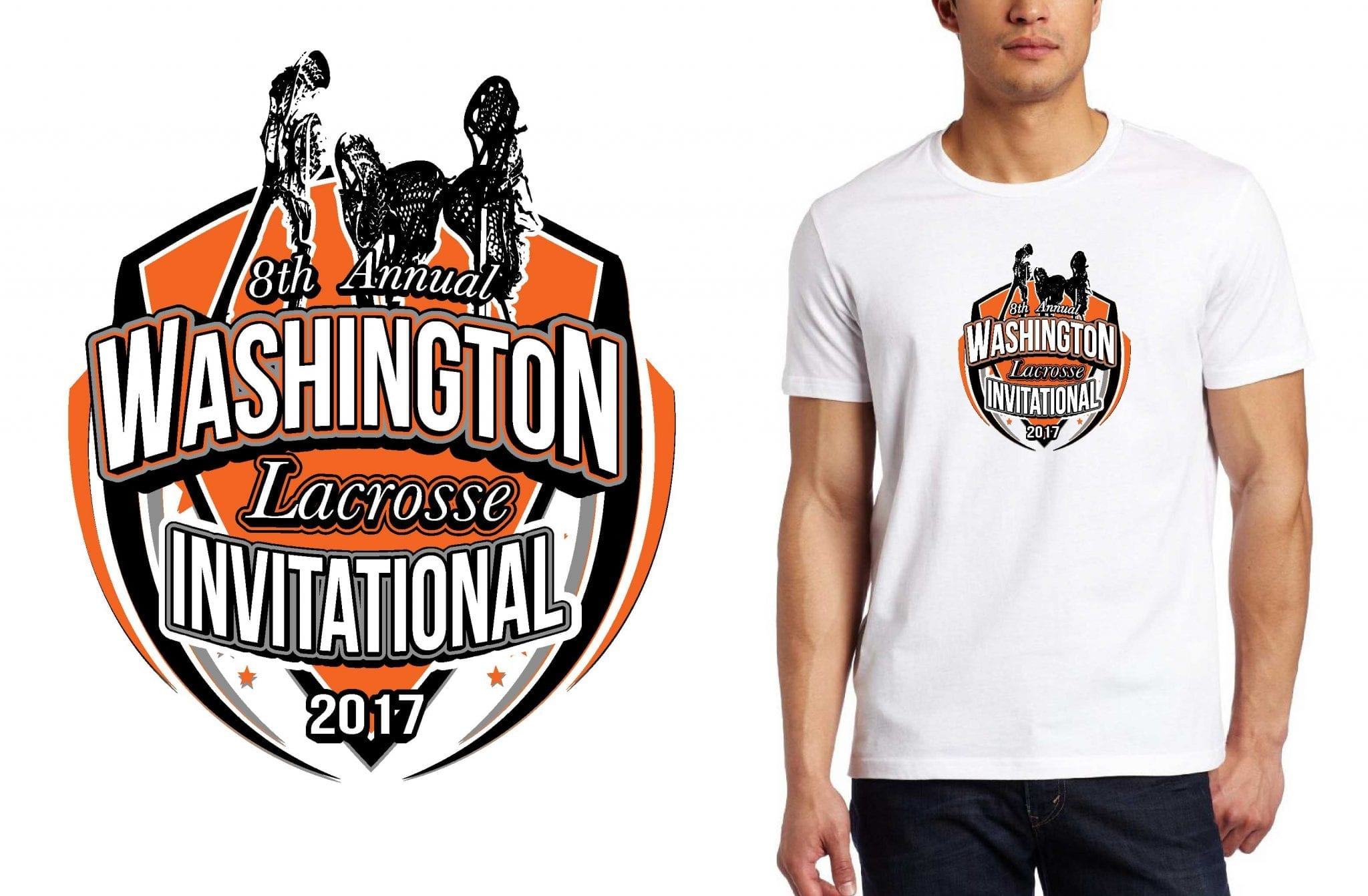 LOGO for 8th-Annual-Washington-Lacrosse-Invitational T-SHIRT UrArtStudio