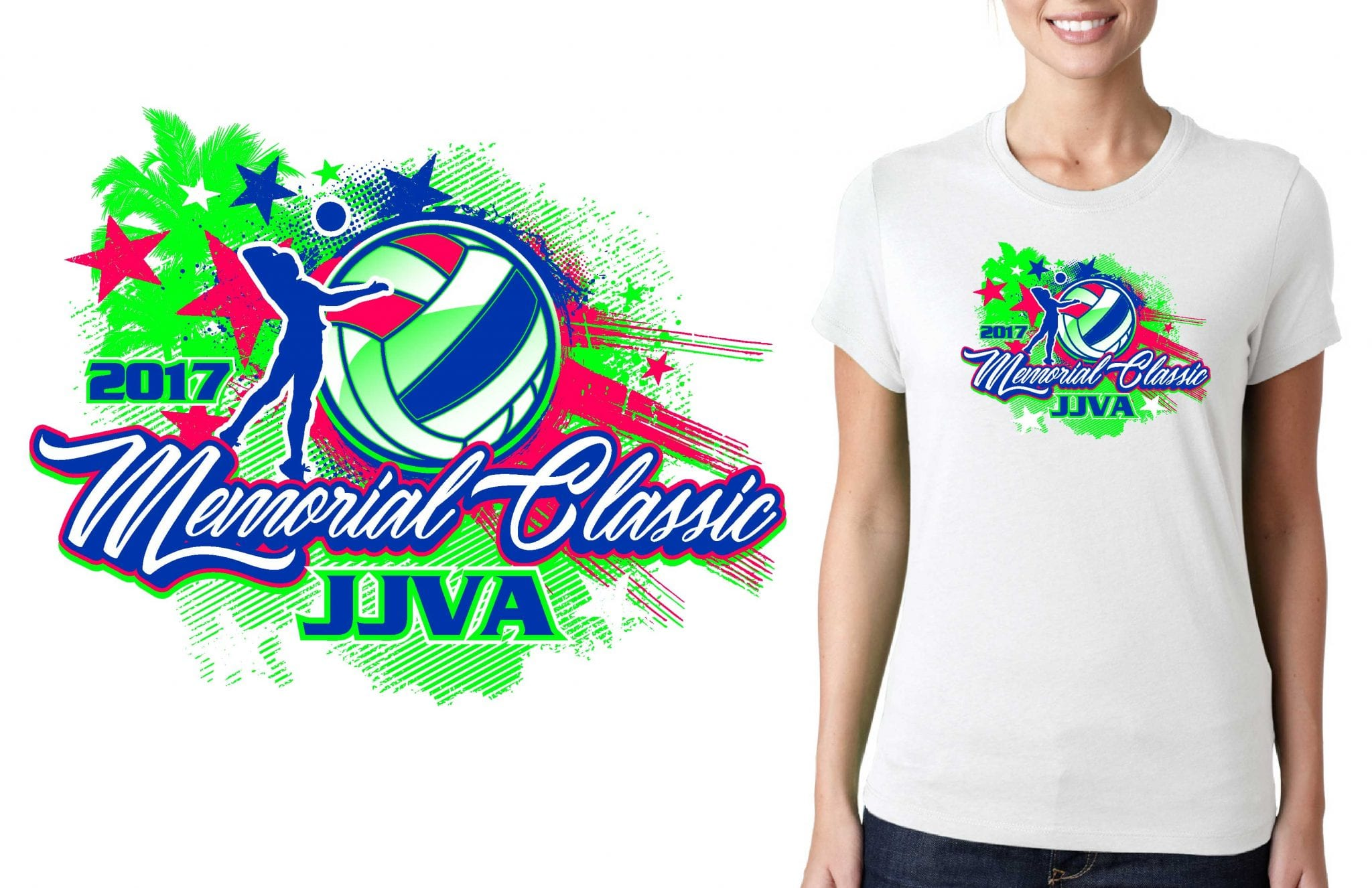 PRINT 5.20.21.17 Memorial Classic vector logo design for t-shirt volleyball urartstudio.com