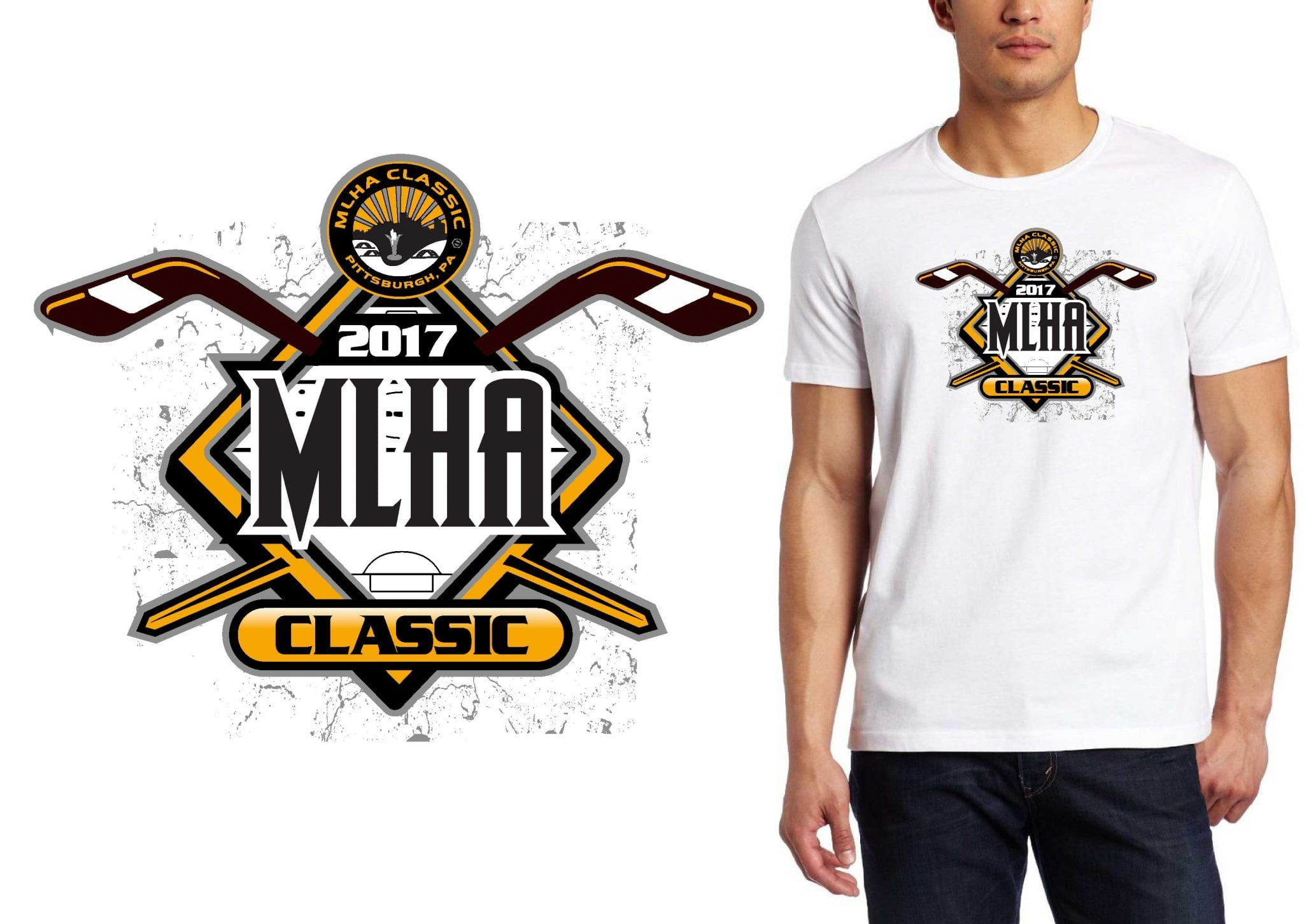 2017 MLHA Tournament MD vector logo design for ice hockey t-shirt UrArtStudio