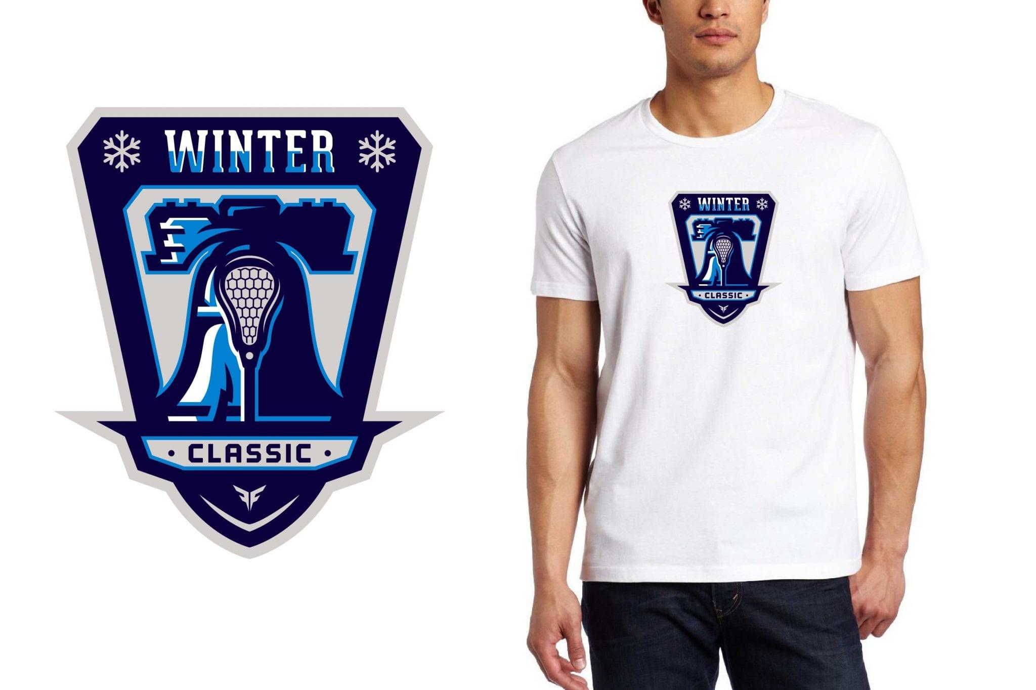 2017 Fusion Winter Classic vector logo design for lacrosse t-shirt UrArtStudio
