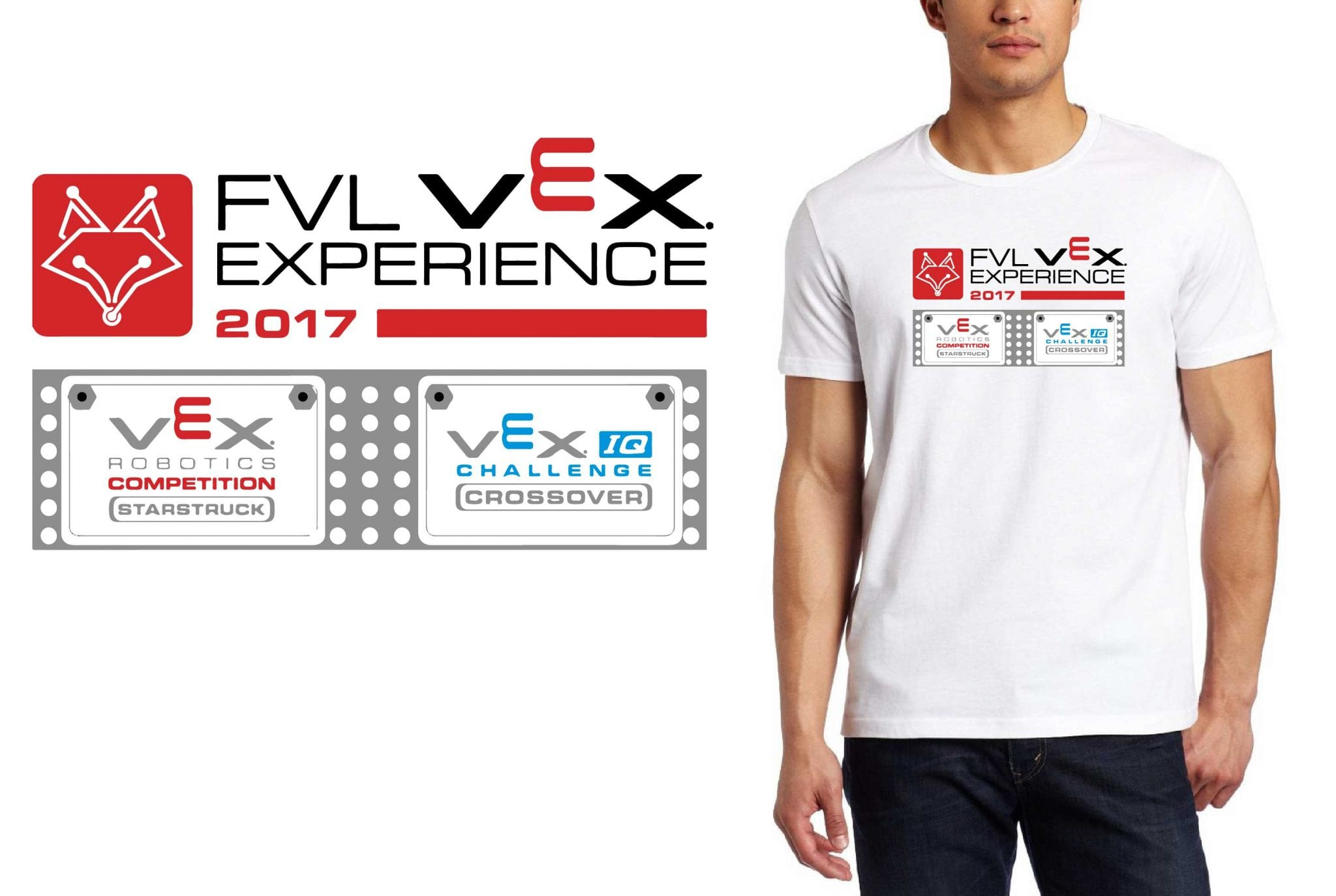 2017 FVL VEX Experience vector logo design for robotics t-shirt UrArtStudio