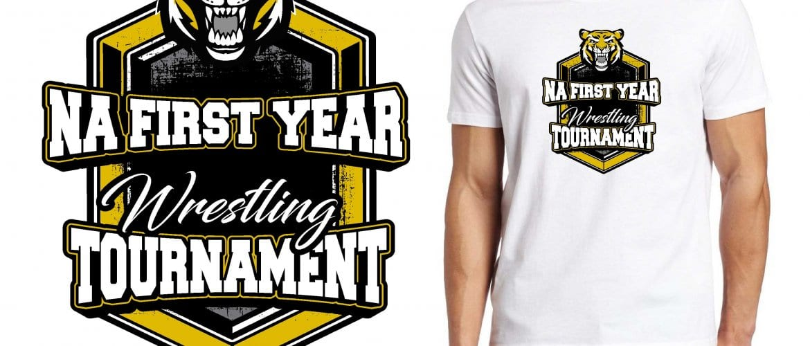 2017 NA 1st and 3rd Year Wreslting Tournament vector logo design for t-shirt UrArtStudio