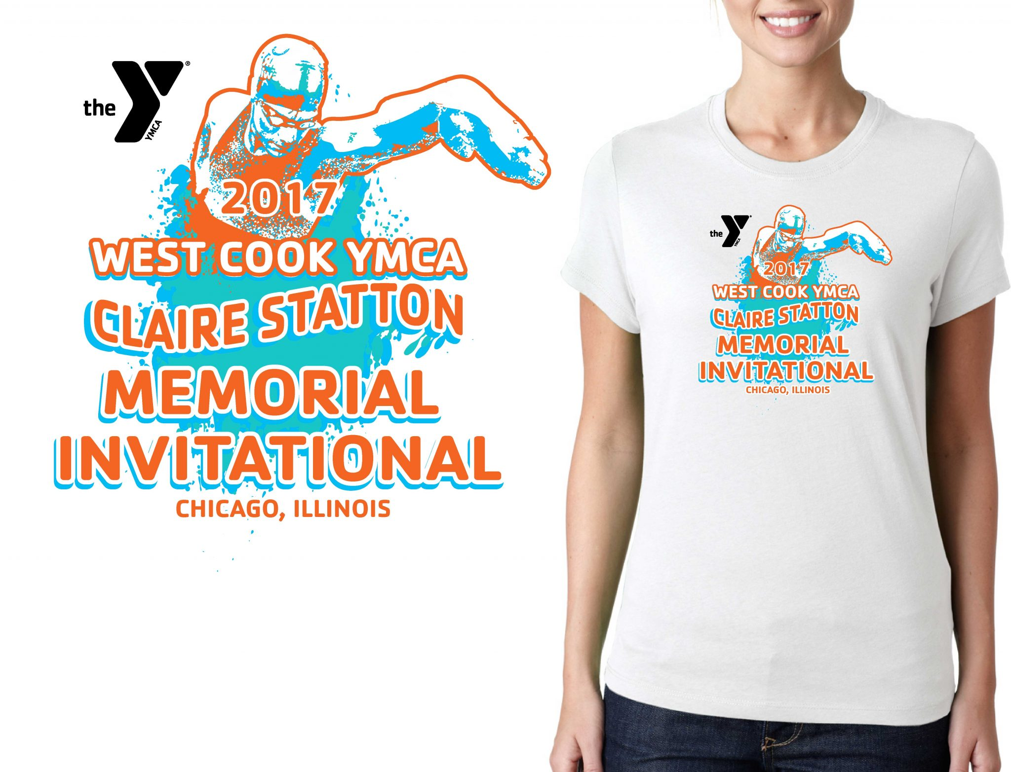SWIMMING LOGO for Claire-Statton-Memorial-Invitational T-SHIRT UrArtStudio