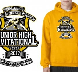 2017 23nd Annual NA Junior High School vector logo design for wrestling t-shirt UrArtStudio