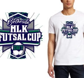 2017 Bethesda MLK Futsal Club vector logo design for soccer t-shirt UrArtStudio