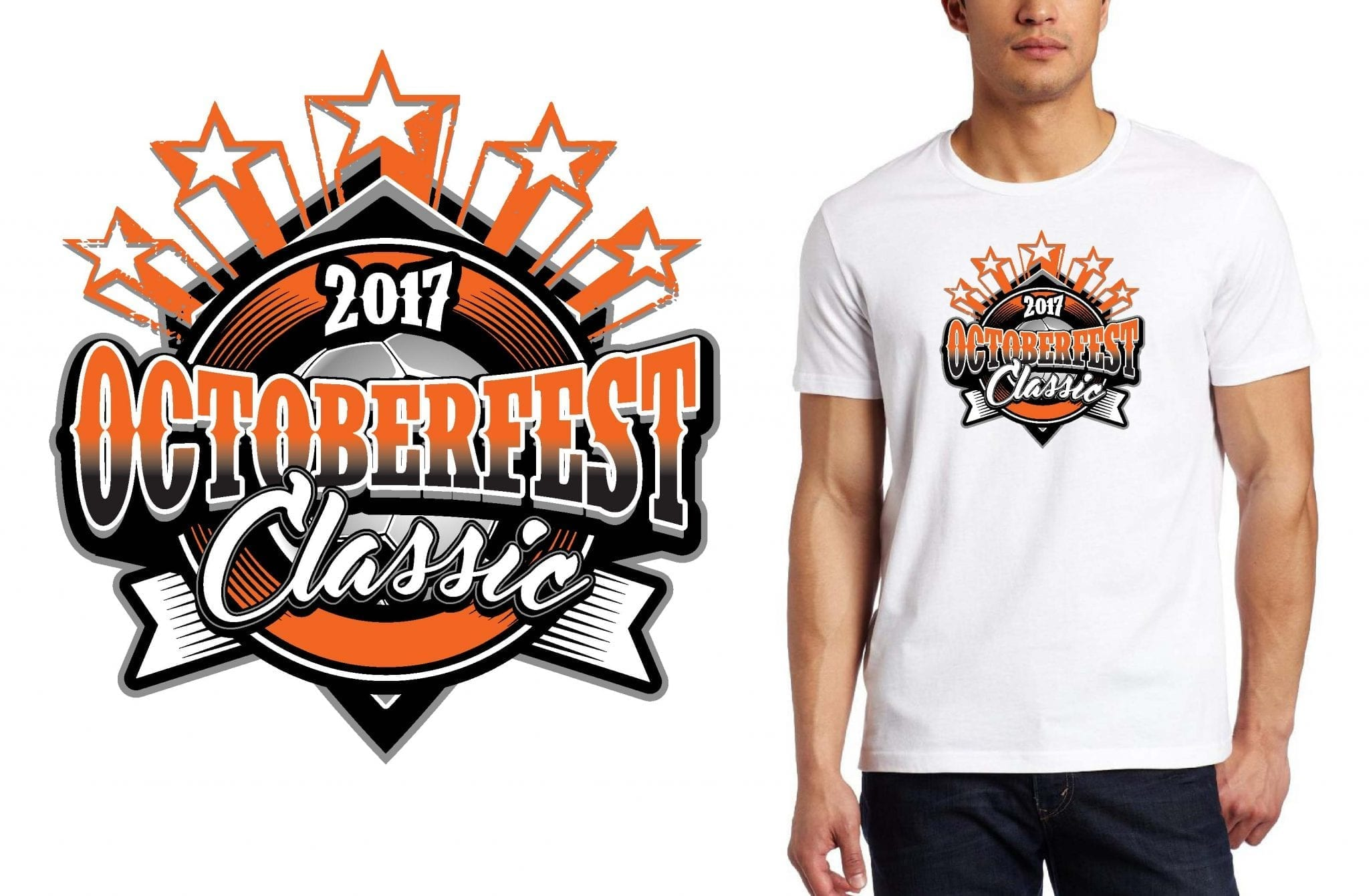 SOCCER LOGO for Octoberfest-Classic T-SHIRT UrArtStudio
