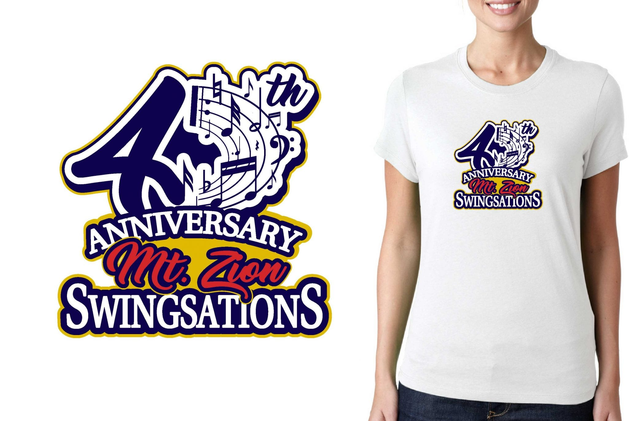 2017 CUSTOM ARTWORK FORM Mt Zion Swingsations vector logo design for t-shirt UrArtStudio