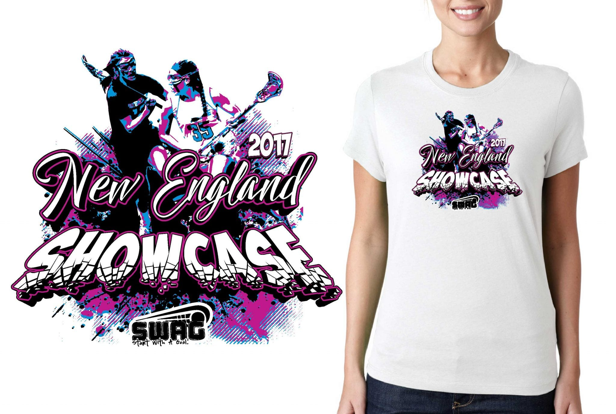 LACROSSE LOGO for New-England-Showcase T-SHIRT UrArtStudio