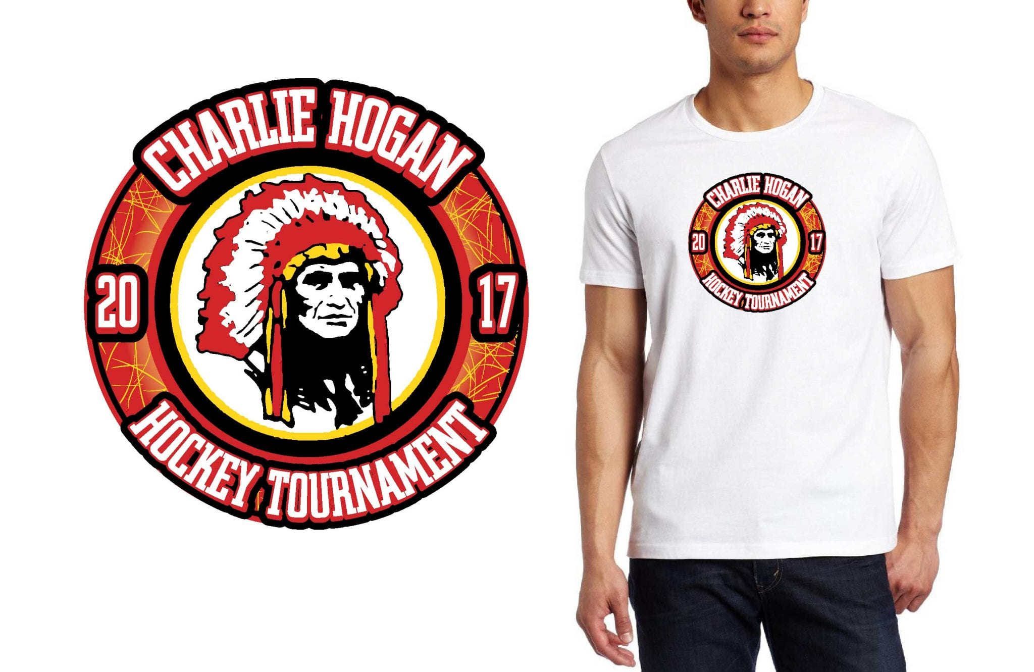 HOCKEY LOGO for Charlie-Hogan-Memorial-Tournament T-SHIRT UrArtStudio